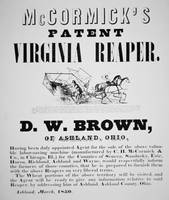 McCormick's Virginia Reaper Vintage Advertisement