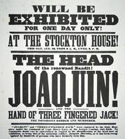 Vintage 'Head of Joaquin' Exhibition Advertisement