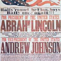 """Abraham Lincoln/Andrew Johnson Campaign Poster"" by fineartmasters"