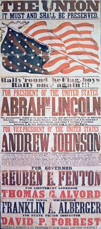 Abraham Lincoln/Andrew Johnson Campaign Poster