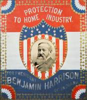 Republican Election Poster for Benjamin Harrison