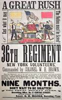 New York Volunteers Civil War Recruitment Poster