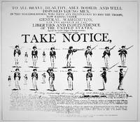 'Take Notice' Revolutionary War Recruitment Poster