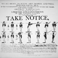 """Take Notice Revolutionary War Recruitment Poster"" by fineartmasters"