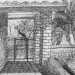 """Courtyard Gate"" by WHDietrich"