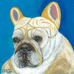 """Marcel Too, French Bulldog Dog Portrait"" by AniaMMiloART"