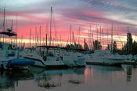 Sunset at Hayden Island Marina, Oregon