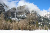 Yosemite Falls in Snow