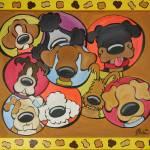 """Polka Dogs"" by scoutdogstudios"