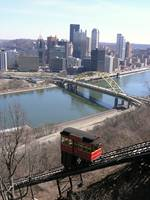 Duquesne Incline and the city of Pittsburgh