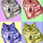 """""""Wolf Popart"""" by ArtsandDogs"""