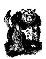 werewolf and kid
