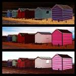 """Beach Huts – Montage"" by ianjeffrey"
