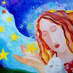 """""""star angel and cat"""" by mariagreene"""