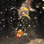 """Snowboarder 4, KSU Victory Bell, Dec 12, 2010"" by nitrophoto"