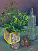 Colored pencil still life
