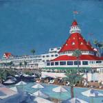 """Poolside at Hotel del Coronado by Riccoboni"" by RDRiccoboni"