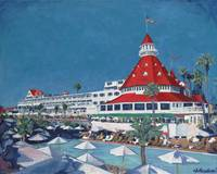 Poolside at Hotel del Coronado by Riccoboni