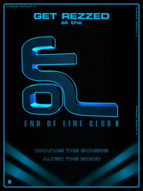 Tron Legacy End of Line Club Poster for Sale