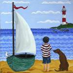 """Boy with Boat"" by englishart"