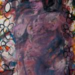 """Painting: Female Bather Surrounded by Flowers"" by visfineart"