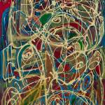 """Abstract paiting: Abstract Expressionism Reflux"" by visfineart"