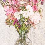 """bouquet in clear vase"" by lwoodburn"