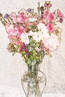 bouquet in clear vase