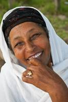 Smiling Woman in Ethiopia