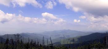 Smoky Mountains Panorama 1a (Clingman's Dome)