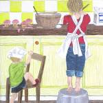 """Children Cooking"" by englishart"