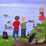 """Feeding the Ducks"" by englishart"