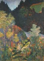Landscape, by Paul Gauguin