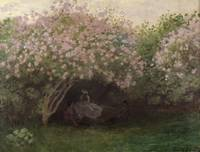 Lilacs, Grey Weather, c1872-3, by Monet