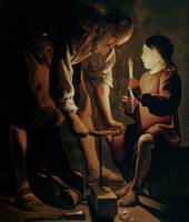 St. Joseph, the Carpenter, by Georges de la Tour