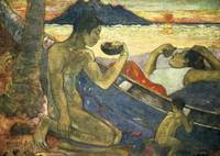 A Canoe (Tahitian Family), 1896, by Paul Gauguin