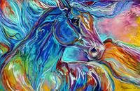 PAINTED PONY ABSTRACT in PASTELS