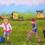 """Playing Football"" by englishart"
