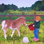 """Feeding Horse"" by englishart"