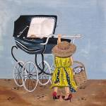 """Pushing Pram"" by englishart"