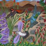 """Hummingbirds among Flowers"" by marycollins"