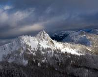 Steeple Rock in Winter, Olympic National Park