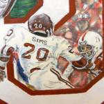 """Billy Sims Game Action Close-up"" by andrewakufo"