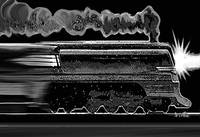 Speeding Night Train