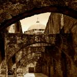 """San Antonio Mission Arches"" by lorieleighlawrence"