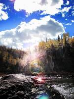 Sun Flare over the River