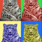 """""""schneeleopard popart"""" by ArtsandDogs"""
