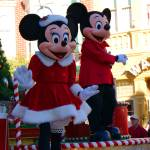 """Mickey and Minnie Celebrate Christmas"" by kjfphotography"