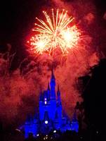 Fireworks Over Cinderella's Castle at Disney