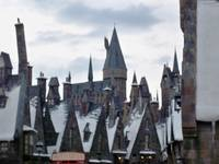 Hogsmeade Village and Hogwarts Castle